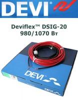 Одножильный кабель Deviflex DSIG-20 980/1070 Вт 53м